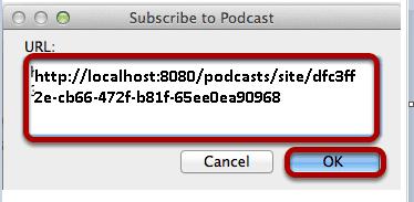 Colar a URL.