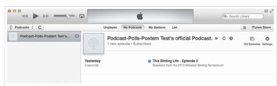 Visualizar inscrição no Podcast.