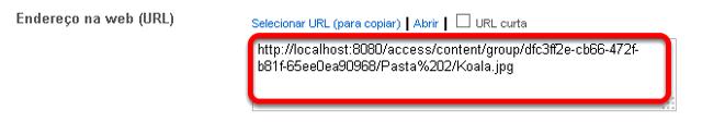 Copiar a URL.