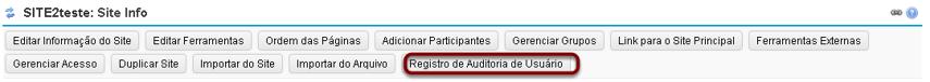 Clicar em Registro de Auditoria do Usuário.