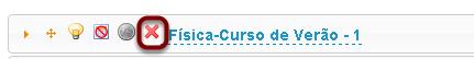Excluir item de conteúdo programático.
