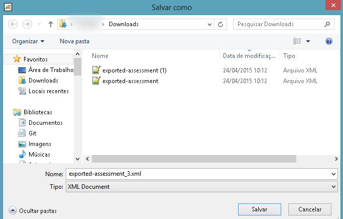 Salvar (download) o arquivo em seu computador.