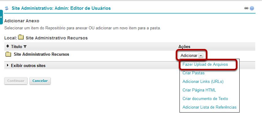 Faça Upload do seu arquivo
