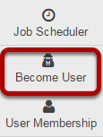 Go to the Become User tool.