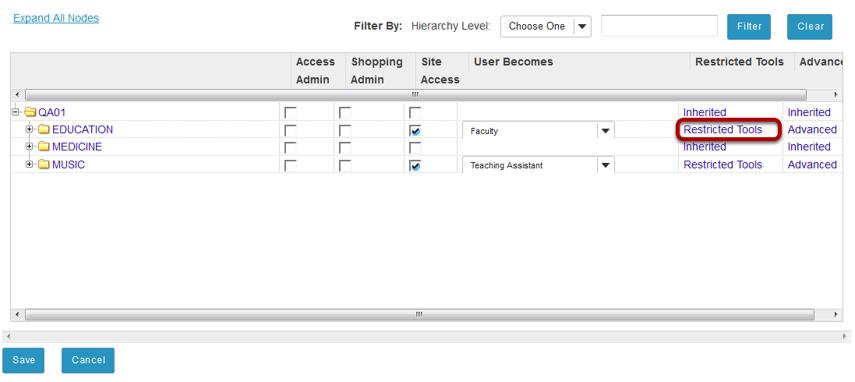 Set tool restrictions. (Optional)