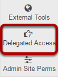 Go to Delegated Access tool.