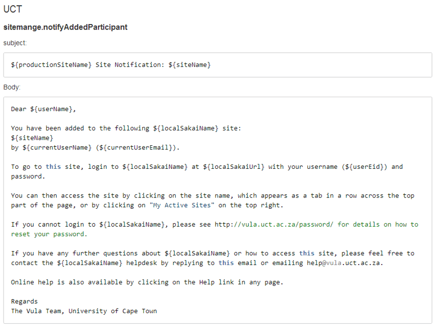 Example Custom Template