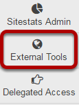 To access this tool, select External Tools from the Tool Menu of the Administration Workspace.