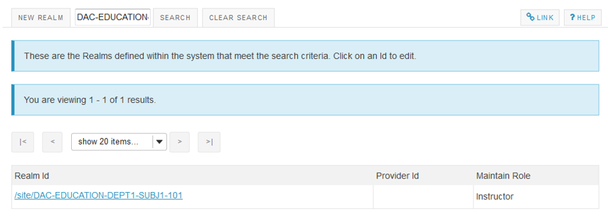 Your search results will display.