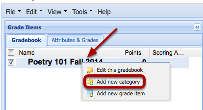 Create a Category.