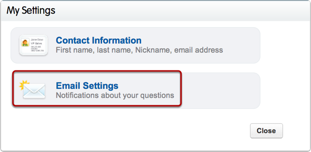 "Select ""Email Settings"""