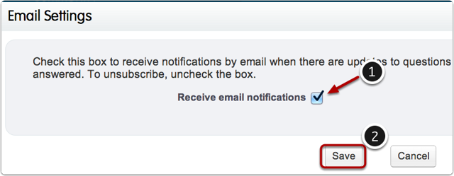"Check the box for ""Receive email notifications"" and hit save"