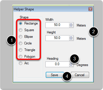 Use Helper Shapes for Custom Ground Polys
