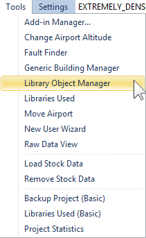 Open the Library Object Manager
