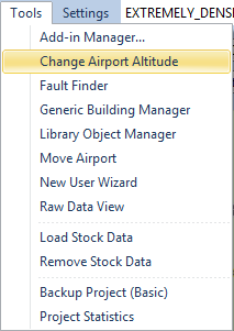Open the change altitude function