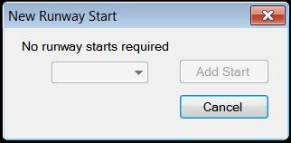 No starts needed