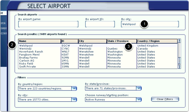 The stock airport details