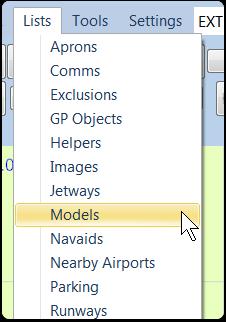 Open the Models List