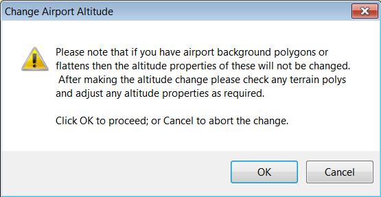 If you change the altitude