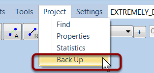 Open the backup dialog