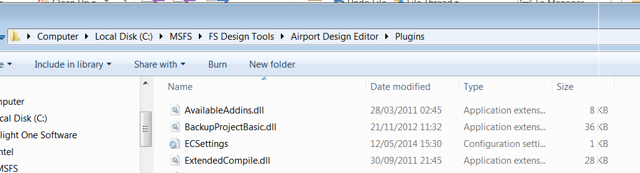 Open the Plugins folder in your ADE installation