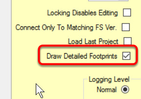 Display Detailed Footprints?