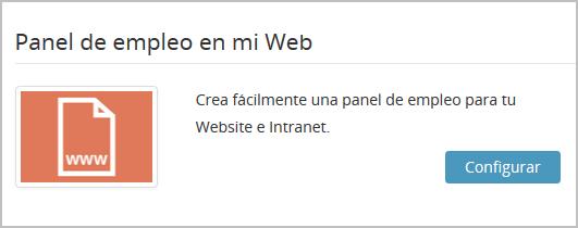 Panel de empleo de mi web