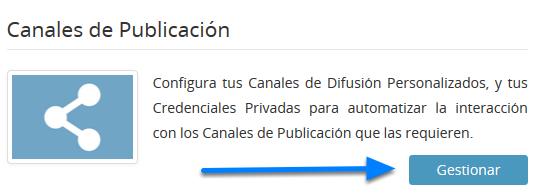 Canales de Publicación
