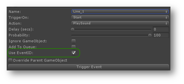 EventID option in EventTrigger