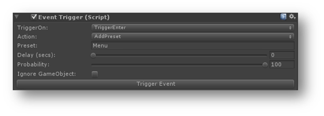 Adding presets at runtime