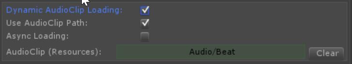 Using AudioClip Path