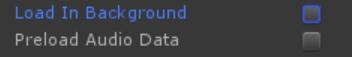AudioClip Loading options