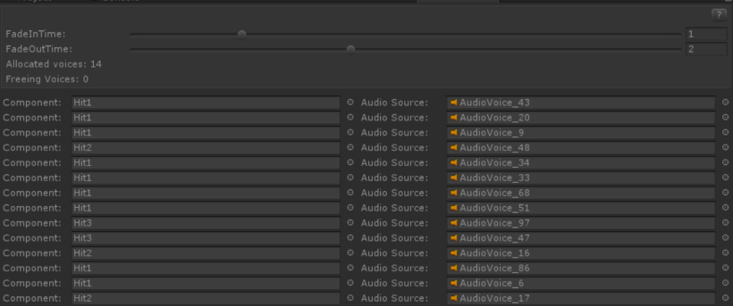 Audio Source Pool