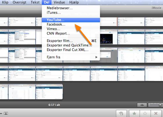 Upload direkte fra forskellige videoprogrammer