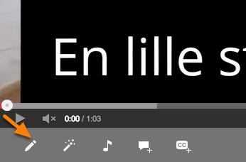 En video valgt inde fra Videoadministrator