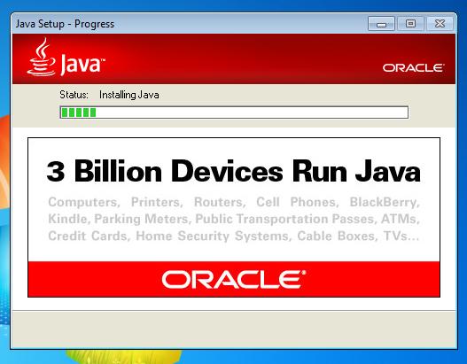 Java Setup - Progress