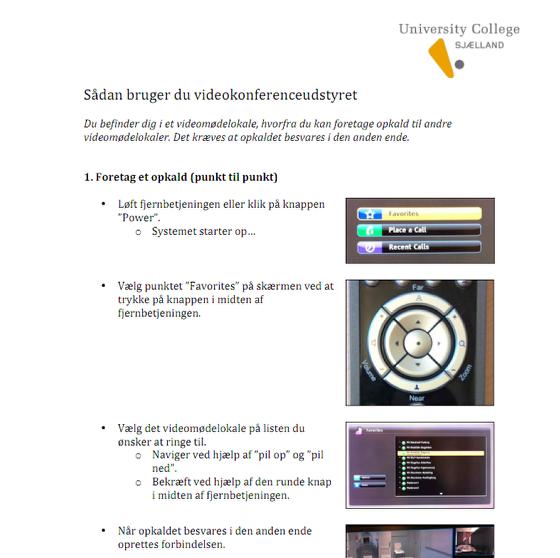 Download guide i PDF til ophængning i videomødelokalerne