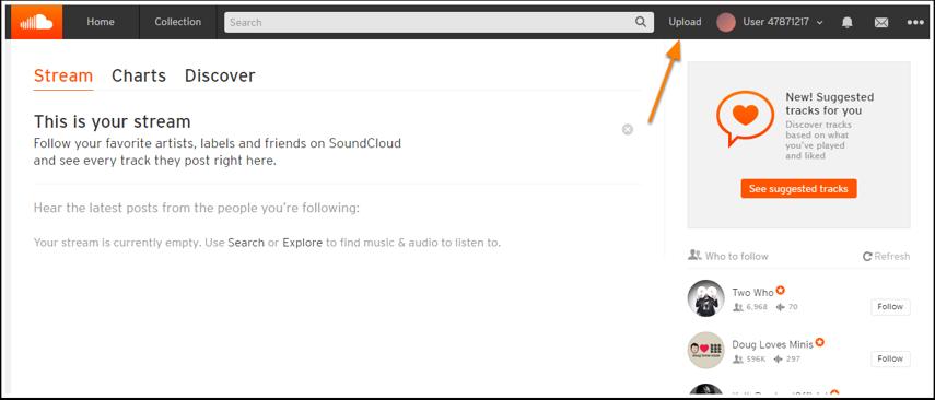 Så er Soundcloudkontoen klar.