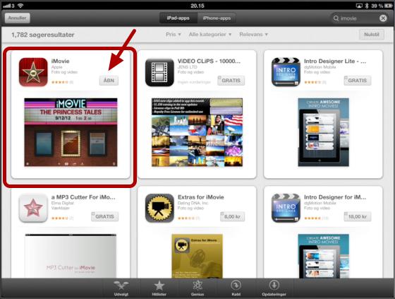 Find og køb app'en i App Store