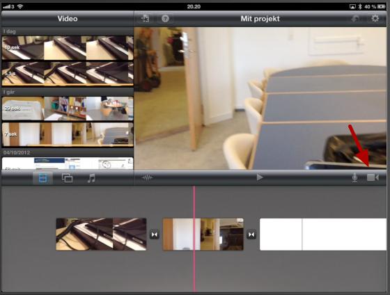 Optag film direkte ind i iMovie