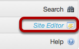 Method #1 - Go to Site Editor.