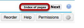 Next, go to the Index of Pages.