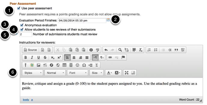 Use Peer Assessment (Optional)