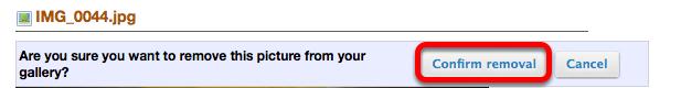 Click Confirm Removal.