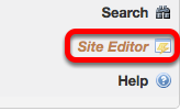 Go to the NEW course site, click Site Editor