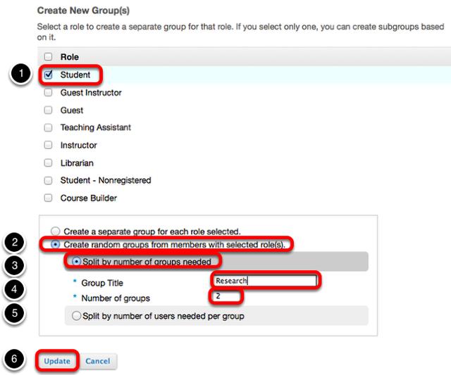Create random groups.
