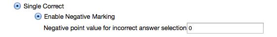 Example: - Single correct.