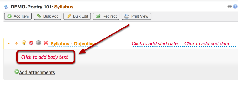 """If you are cutting and pasting from another document, Click """"Click to add body text"""""""