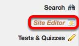 Click Site Editor.