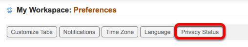 Click Privacy Status.